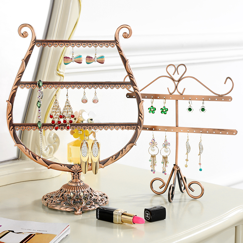 Metal Earrings Organizer Cup Shape Earring Holder Jewelry Display Necklace Display Rack Earring Srorage Tree Classic A160-1