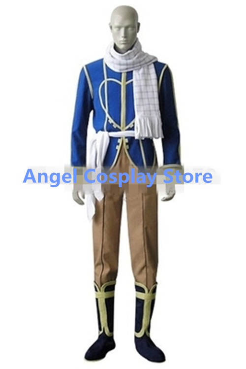 Hot Anime Fairy Tail Dragon Slayers Natsu Cosplay Costumes Dragneel Celestial Spirit Chr ...