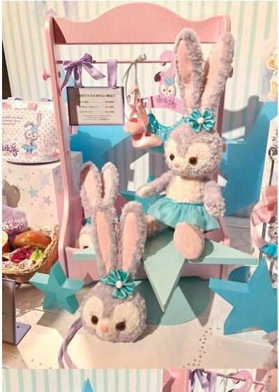 Kawai Stellalou Rabbit Duffy bears friend Long Ear Ballet Skirt Looking Animal Plush Doll mini bag Children Girls Sleepy Dolls