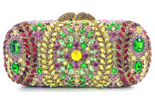 DC1989 Women Matt Black Finishing Mesh Bag Crystal Magnetic Flap Cover Ladies Evening Party Clutches Long Chain 2 Zipper Pockets