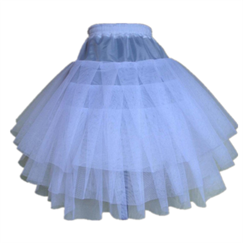 New Children Petticoats for Formal/Flower Girl Dress 3 Layers Hoopless Short Crinoline Little Girls/Kids/Child Underskirt(China)