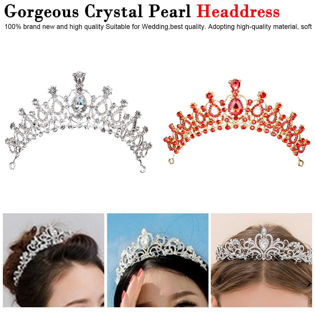 1 pièces magnifique argent cristal mariée diadème couronne mariée bandeaux femmes bal cheveux ornements mariage cheveux bijoux accessoires