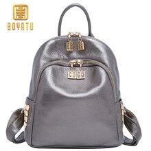 Купить с кэшбэком Boyatu Top Grade Quality Luxury Genuine Cow Leather For Mother's Day Gift For Women Female Packbacks Fashion Retro Travel Bags