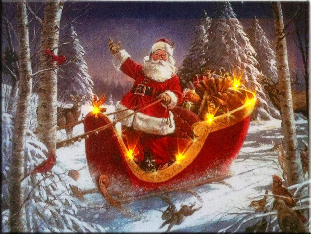 Image Gallery Santa Paintings