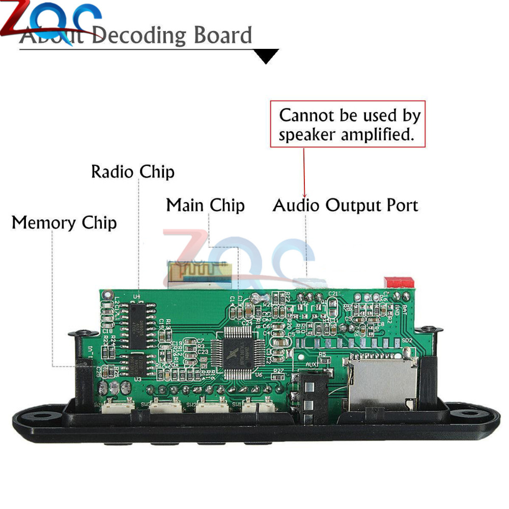 24 Weeks 7 12v Car Bluetooth Mp3 Decoder Board Decoding Player Usb Rds Coder Using Atmega32 Aeproductgetsubject