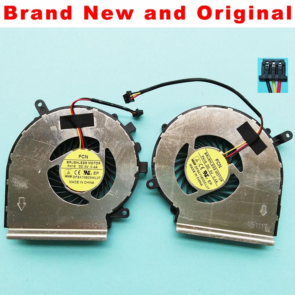 Новые оригинальные вентилятор для MSI GE72 GE62 PE60 PE70 GL62 GL72 GP62 2QE 6QG MS-1794 MS-1795 кулер; радиатор PAAD06015SL N317 N318