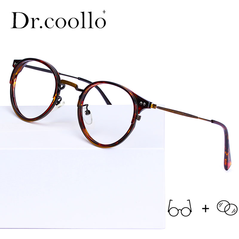 TR90 Glasses Frames Men Retro Small Round Prescription Glasses Women 2019 Vintage Myopia Optical Frames Eyeglasses Eyewear