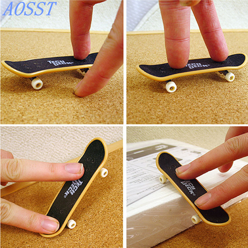 10pcs Mini Finger Skateboard Fingerboard Mini Skate Plastic Stents Scrub Finger Scooter Skate Boarding Game Toy Random GIFT ...