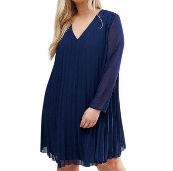 ffa039f08e8077c Большие размеры Boho осеннее женское мини свободное платье с длинным  рукавом шифоновое платье Сексуальное мини платье с открытыми плечами .