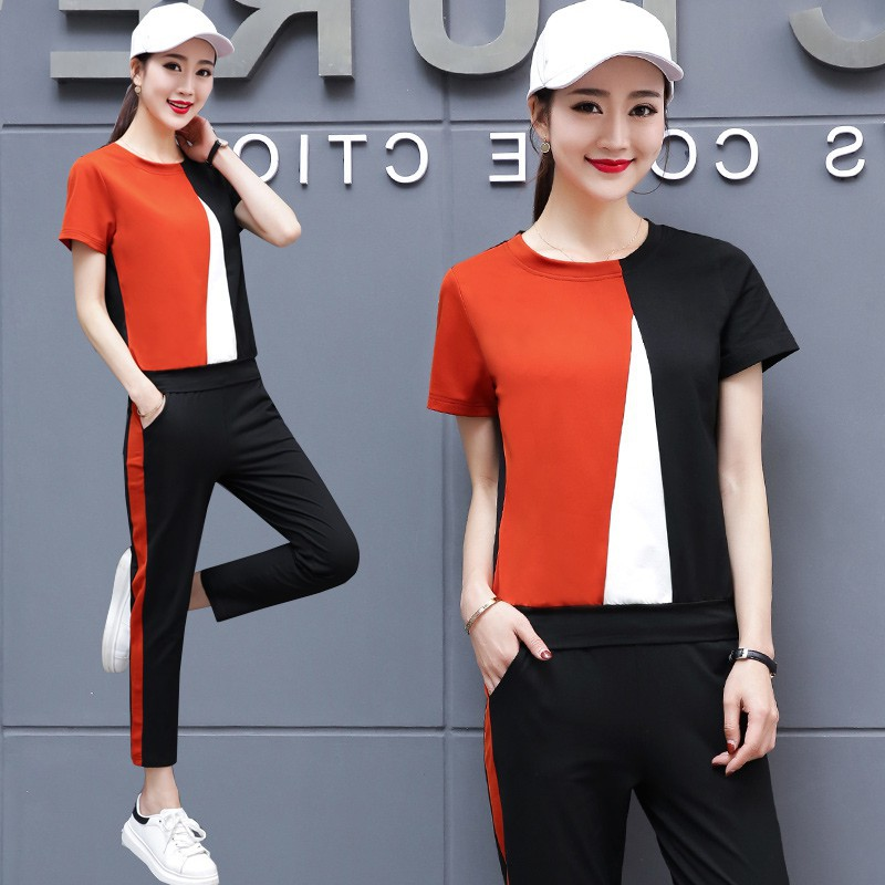 New Fashion 2019 Summer and spring autumn women suit womens tracksuits casual set two pieces