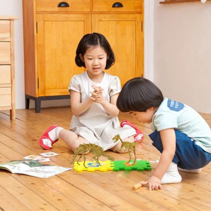 Bottle Dinosaurs Model Assorted Plastic Dinosaurs Fossil Skeleton Dino Figures Kids Toy New Year Gift for Children