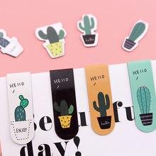 2 teile/paket Kreative schöne Kaktus Topf Magnet Lesezeichen Papier Clip Schule Büro Liefern Escolar Papelaria Geschenk Schreibwaren