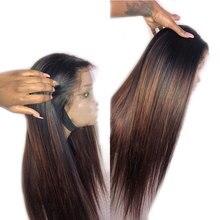 باروكة شعر بشري برازيلي ريمي مفرود بشريط أمامي من الدانتيل 360