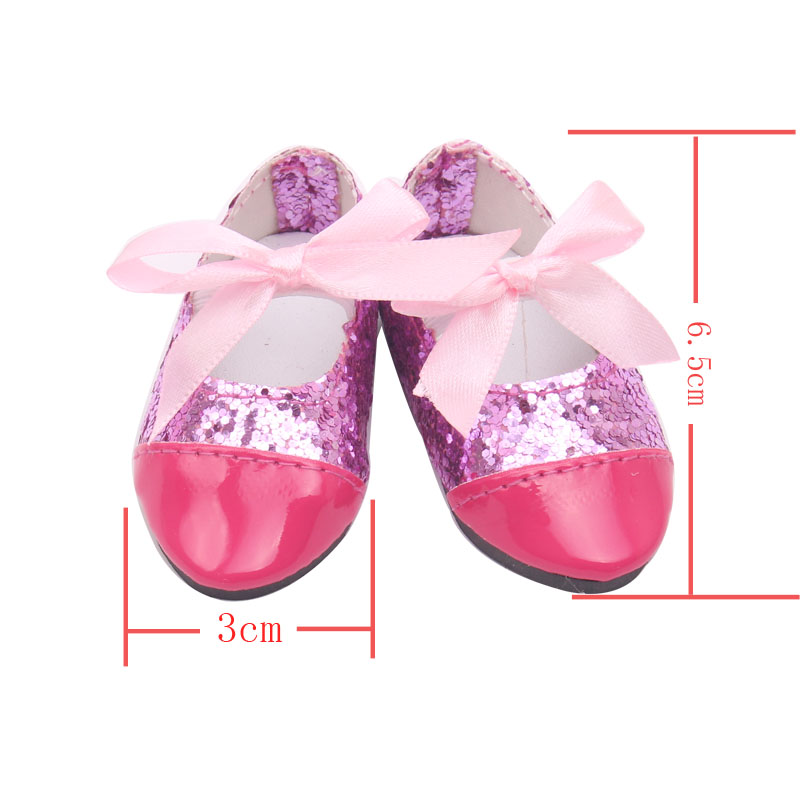 Dolls Accessories Doll Shoes Fashion Doll Red Leather Shoe 18 Inch Girl Dolls And 43 Cm Baby Doll Toy Accessories S71