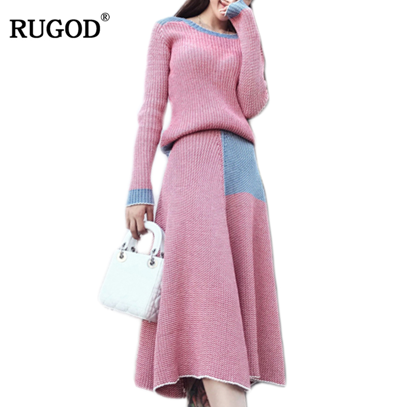 087dabf59d Detail Feedback Questions about RUGOD 2 Pieces Winter Sweater Dress Set  2018 Women Long Sleeve Leisure Wear Pullover Knitted Dresses Women Clothing  Warm ...