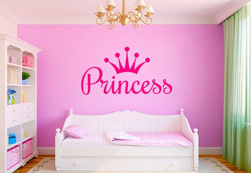 Murales pequeña princesa deseo nombre príncipe habitación infantil Baby pegatinas decorativas