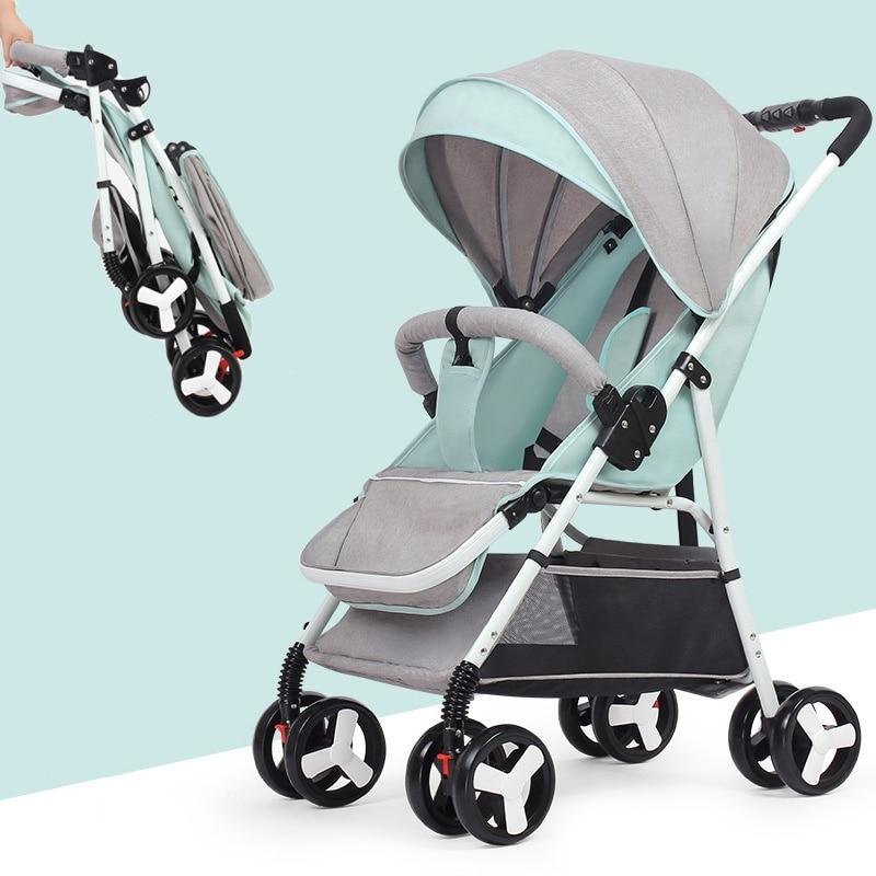 Mini poussette pliable multifonctionnelle légère de poussette de bébé de 5.5 KG (aucune taxe) (expédition de l'ue ou du CN)