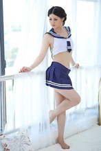 Sexy Full Slips Blue&white Pure And Students Loaded Uniforms Suit Cosplay Sexy Underwear 2016