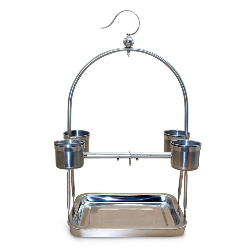 Stainless Steel Parrot Stand Holder Bird Cage Shelf Rack Contains Bangle portable Decorativas Hot Sale