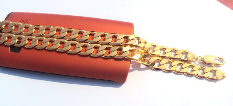 Κλασικό ανδρικό της ΙΤΑΛΙΑΣ Curb - Κοσμήματα μόδας - Φωτογραφία 5