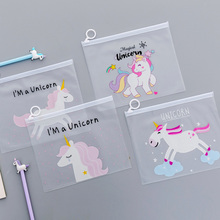 Unicorn Party Favors Cute Pink Panther Pencil Case Bts Transparent PVC Cosmetic Bag For Girl Kids Birthday Christmas Guest Gifts