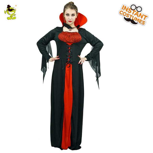 adult queen of the vampires costume halloween costumes for women sexy cosplay black gothic lolita dress