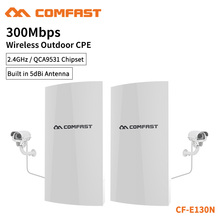 COMFAST Wireless Outdoor CPE Bridge For Long Range IP Camera Project 300mbps 2.4G QCA9531 Transmission WiFi Repeater CF-E130N