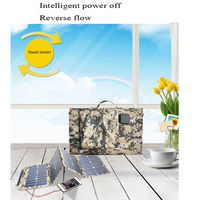 Portable 80W Smart Foldable Waterproof Solar Panel fast Charger Mobile Power Bank bag for Phone Battery Dual USB Port Outdoor