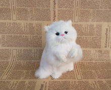 cute simulation cat toy polyethylene & furs handicraft lucky cat model gift about 21x14cm