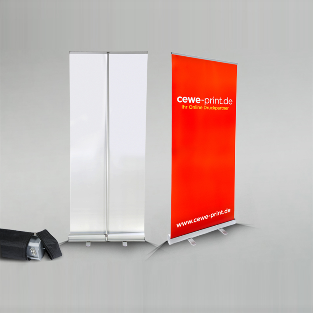 85 200cm Economical Aluminum Retractable Roll Up Banner Display Exhibition Booth Advertising Pull Promotional Stand In Flags Banners Accessories From