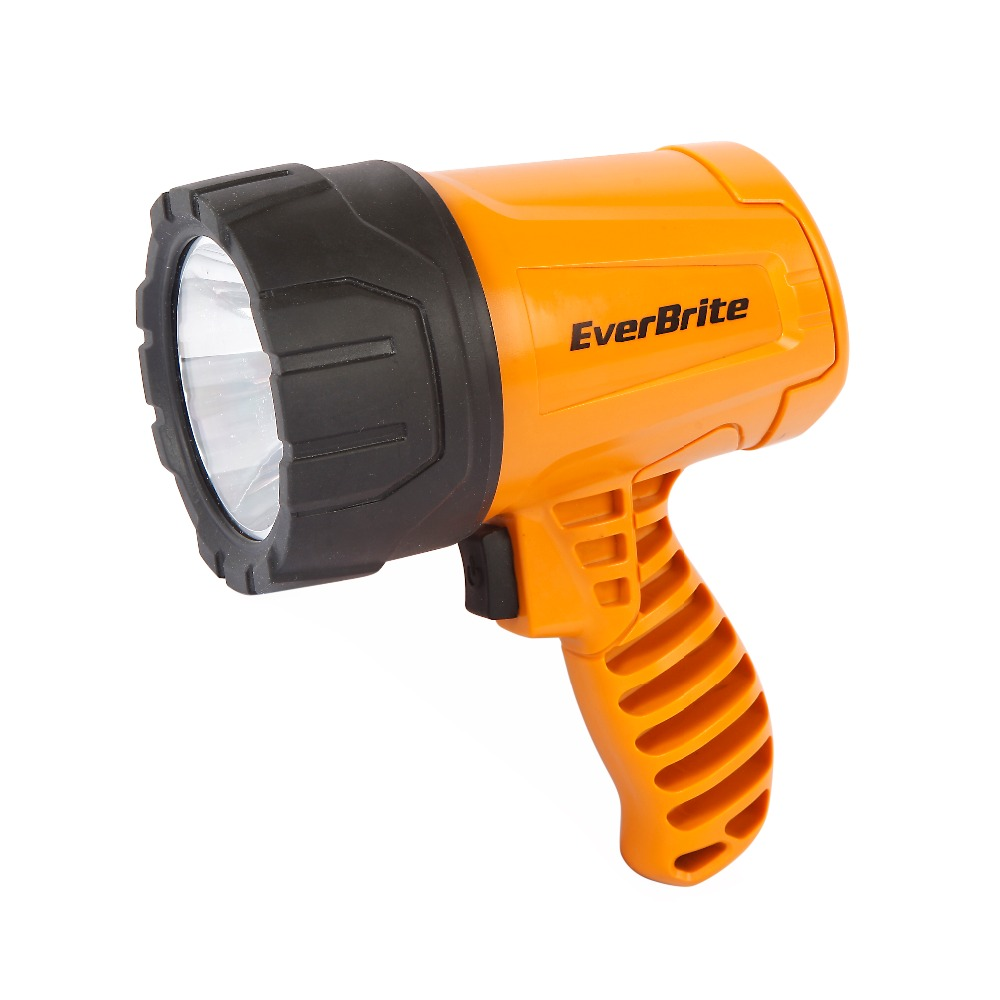 EVERBRITE 300 Lumens LED Flashlight Portable Spotlights Powerful Searchlight 4C Batteries