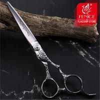 Fenice Vintage Hair Scissors Engraved 6.0inch Japanese VG10 Stainless Steel Barber Scissors tijeras de peluqueria professional