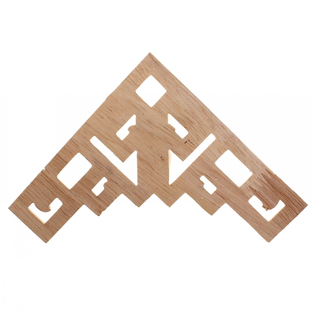 RUNBAZEF Decal Corner Frame Doors Furniture Woodcarving Decorative Wooden Figurines Wood Carved Applique Vintage Home Decor 6