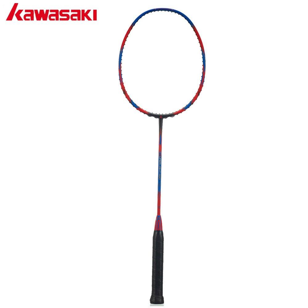 Raquette de Badminton légère Kawasaki 30 T cadre aérodynamique raquette de Badminton sport 100% poignée d'amortissement en carbone Super léger 580