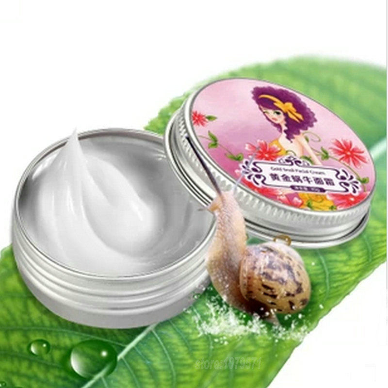 New Gold Snail Facial Cream Moisturizing Whitening Acne Indian Wrinkle Cream 30g
