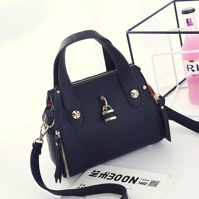 2016 новые Моды плеча женщин сумка satchels Высокое Качество твердые Дамы Офис Посланник Сумки На Ремне
