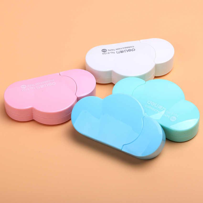 Mini nuages correcteurs en forme de bande, outils modifiés de papeterie école et bureau, cadeau populaire pour enfants 4 couleurs 1 pièce