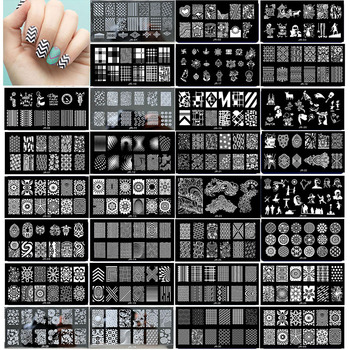 1 x 2018 New Design Nail Template 12*6CM Metal Template Konad Polish Geometry Designs Nail Art Stamp Image Plate Stencil JR01-30 недорого