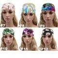 Fashion Retro Women Elastic Sport Headband Yoga Headwear Hairbands Floral Wide Stretch Girl Hair Accessories