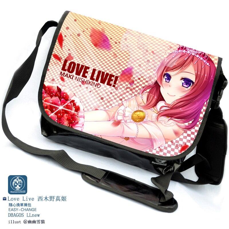 Бесплатная доставка с рисунком аниме LoveLive! COS Nishikino mak сладкий милый печать pu человек женщина Кроссбоди мешок Сумки Колледж школьный
