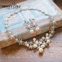 Mode Eleganz Silber Überzogene Sonnenblumen Blumen Perle Strass Hochzeit Halskette Und Ohrring Set