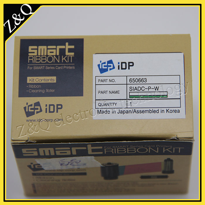 Original IDP Smart 650663  SIADC-P-W white ribbon for use with smart card printer 50s,50d,30s,50l-1200 printsOriginal IDP Smart 650663  SIADC-P-W white ribbon for use with smart card printer 50s,50d,30s,50l-1200 prints