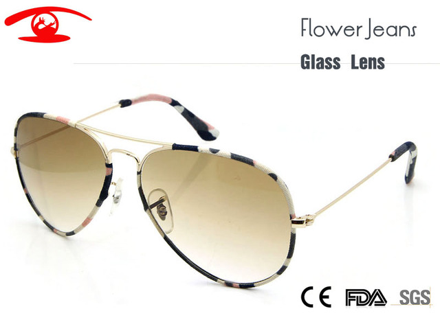 ZBZ New Women's Sunglasses Flower Jeans Brand Designer Glass Lens non-sctratch Pilot Sunglasses Glasses Eyewear Shades UV400