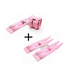 Sexy Handcuffs Adjustable PU Leather Ankle Cuff Restraints Bdsm Bondage Sex Toy Exotic Accessories