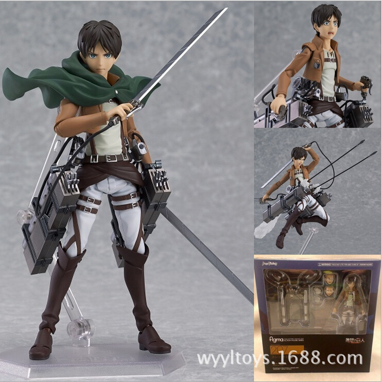 Attack on Titan Eren Jaeger Figma 207 PVC Action Figure Collection Classic brinquedos Toys for christmas gift 25cm levi ackerman rivaille li weier soldiers attack on titan trunk standing battle edition pvc action figure model toys