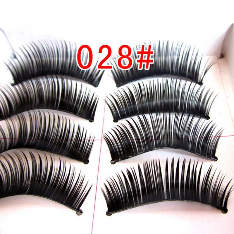 10 PCS/set naturais Eyelashes 3D Mink Eyelashes Crossing Mink Lashes Hand Made Full Strip Eye Lashes 6 Styles Eyelash makeup