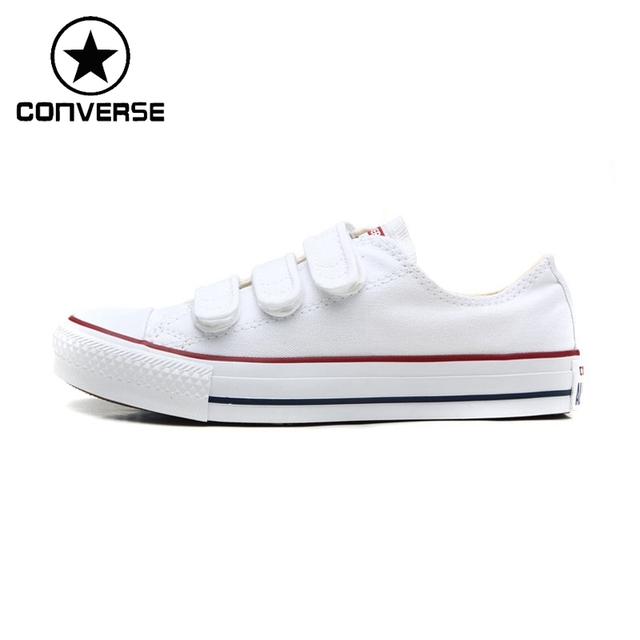 Original New Arrival Converse Hook and loop Classic Skateboarding Shoes  Unisex Canvas Sneakser b338651340c5