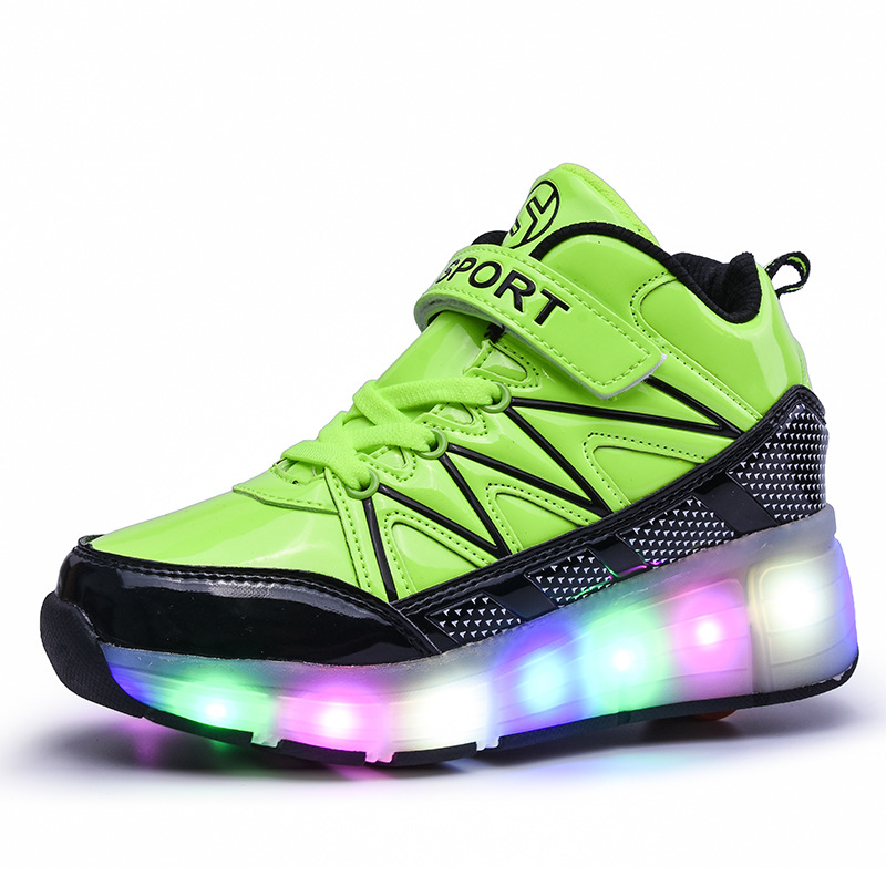 Autumn New LED Flashing Outdoor Colorful Luminous Boys and Girls Comfortable Breathable Shoes Skates
