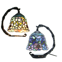 Led lampen Tiffany Europäischen led tisch lampe warme kunst schlafzimmer wohnzimmer studie zimmer LED dekorative leuchten mit lichtquelle-in Schreibtischlampen aus Licht & Beleuchtung bei