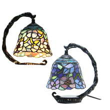 Led lamps Tiffany European led table lamp warm art bedroom living room study room LED decorative lights with light source